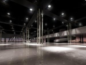 صحنه فضای کارگاهی کف بتونی سیمانی مدل آماده رندر | A7AI2416
