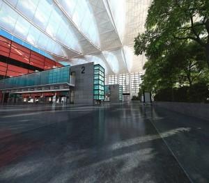 صحنه فضای تجاری عمومی مرکز خرید مسقف فروشگاه فرودگاه ایستگاه مترو قطار مدل آماده رندر | A7AI2418