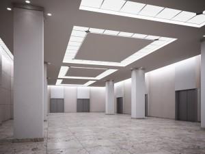 صحنه لابی هتل آسانسور کف گرانیت مدل آماده رندر | A7AI2604
