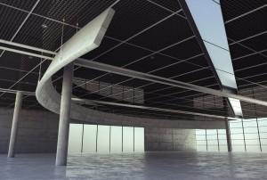 صحنه سالن سوله کف بتونی سقف توری فضای باز مدل آماده رندر | A7AI2607