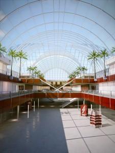 صحنه فضای عمومی مرکز خرید تجاری پله نخل مغازه فروشگاه مدل آماده رندر | A7AI2614