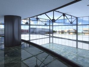 صحنه فضای عمومی سالن انتظار فرودگاه راه آهن مترو مدل آماده رندر | A7AI2615