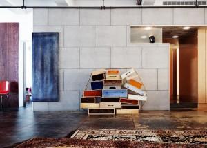 صحنه خانه کامل منزل آشپزخانه فرش ایرانی لوستر مدل آماده رندر | A7AI2704