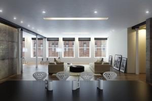 صحنه خانه کامل نشیمن پذیرایی مبل کوسن تابلو مدرن میز غذا خوری فرش پرزدار مدل آماده رندر | A7AI2708