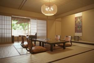 صحنه اتاق نشیمن چینی ژاپنی لوستر مبل شمشیر مدل آماده رندر | A7AI2802
