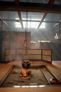 صحنه آشپزخانه چینی ژاپنی نورپردازی دود نورخورشید مدل آماده رندر | A7AI2810