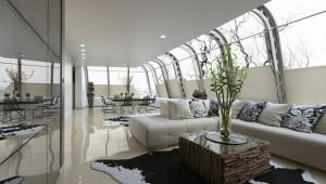 صحنه خانه کامل منزل فضای نشیمن مبل ال فرش چرم گاو مبل تزئینی کوسن آشپزخانه هود سینک صندلی کانتر اتاق پذیرایی شومینه گل گلدان کف سرامیک مبل مدل آماده رندر | A7AI2902