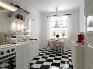 دانلود رندر آشپزخانه کلاسیک چوب سفید نئوکلاسیک گاز ظرف شویی هود کابینت مدل آماده رندر تری دی مکس وی ری | A7AI3001