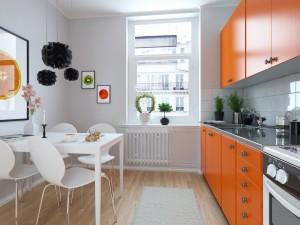 دانلود رندر آشپزخانه مدرن میز غذا خوری کف پارکت کابینت گاز شوفاژ مدل آماده رندر تری دی مکس وی ری | A7AI3003