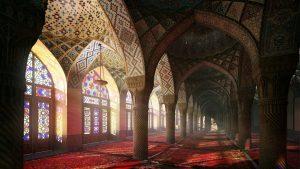 دانلود رندر مسجد شبستان معماری اسلامی شرقی عربی اورینتال مدل آماده رندر تری دی مکس وی ری | A7AI3102