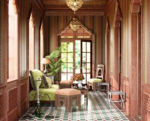 دانلود رندر اتاق پذیرایی کلاسیک معماری شرقی عربی معماری اسلامی A7AI3105