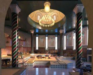 دانلود رندر رستوران کلاسیک معماری شرقی عربی معماری اسلامی مدل آماده رندر تری دی مکس وی ری | A7AI3107