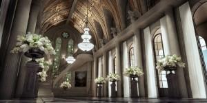 صحنه تالار کلیسا اپرا معماری بیزانس رومی گل گلدان پله سنگی مدل آماده رندر | A7AI3210