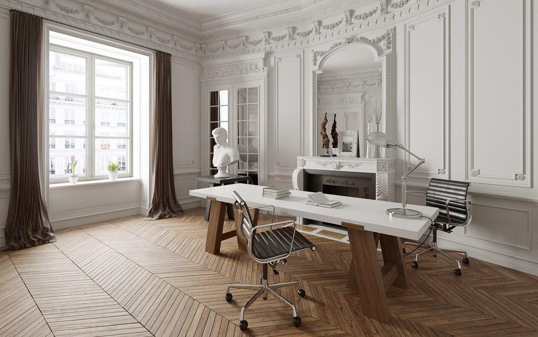 دانلود رندر اتاق کار کلاسیک