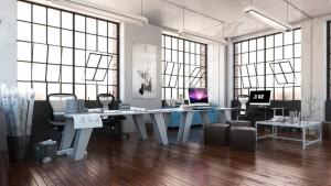 دانلود رندر اتاق طراحی کارمند مدرن کف پارکت کامپیوتر آی مک مدل آماده رندر تری دی مکس وی ری | A7AI3305