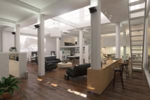دانلود رندر دفترکار مدرن اتاق جلسات اتاق کار آشپزخانه کتابخانه لوستر مدل آماده رندر تری دی مکس وی ری | A7AI3309
