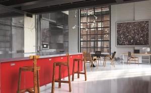 دانلود رندر رستوران کافی شاپ مدرن آشپزخانه صندلی چوبی مدل آماده رندر تری دی مکس وی ری | A7AI3404