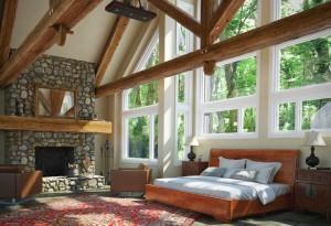 دانلود رندر اتاق خواب اتاق نشیمن شومینه تختخواب مبل هیزم فرش ایرانی ویلا مدل آماده رندر تری دی مکس وی ری | A7AI3510