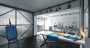 دانلود رندر اتاق کار طراحی آتلیه میز طراحی مدل آماده رندر تری دی مکس وی ری | A7AI3601