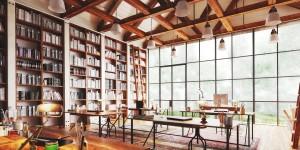 دانلود رندر اتاق مدیر طراحی شرکت طراحی مدرن کتابخانه فرش ایرانی مدل آماده رندر تری دی مکس وی ری | A7AI3602