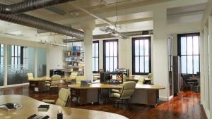 دانلود رندر آفیس مدرن طراحی دکوراسیون داخلی میز کارمند طراحی مدل آماده رندر تری دی مکس وی ری | A7AI3608