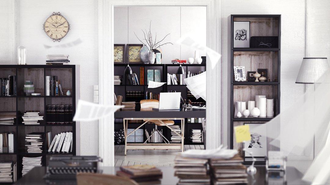 دانلود رندر اتاق طراحی مدرن
