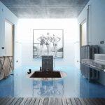 دانلود رندر حمام دستشویی مدرن وان سرامیک کاشی مدل آماده رندر تری دی مکس وی ری | A7AI3901
