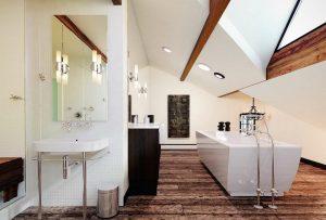 دانلود رندر دستشویی حمام روشویی پارکت چوب مدل آماده رندر تری دی مکس وی ری | A7AI3904