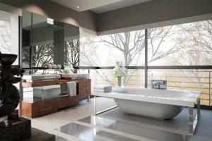 دانلود رندر حمام دستشویی وان حمام مدرن مدل آماده رندر تری دی مکس وی ری | A7AI3906
