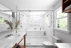 دانلود رندر حمام دستشویی مدرن وان روشویی مدل آماده رندر تری دی مکس وی ری | A7AI3910