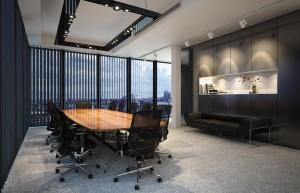 دانلود رندر اتاق جلسه آفیس میز جلسه نور پردازی غروب مدل آماده رندر تری دی مکس وی ری | A7AI4002