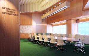 دانلود رندر آفیس اتاق جلسه مدرن دکوراسیون چوب مدل آماده رندر تری دی مکس وی ری | A7AI4009