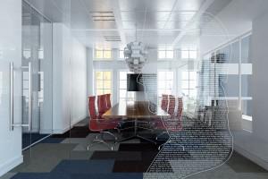 دانلود رندر اتاق جلسه میز جلسه آفیس لوستر تلویزیون مدل آماده رندر تری دی مکس وی ری | A7AI4011