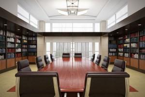 دانلود رندر اتاق جلسه آفیس میز چوب کتابخانه مدل آماده رندر تری دی مکس وی ری | A7AI4013