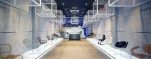 دانلود رندر گالری نمایشگاه فروشگاه مدرن ویترین صندلی مدرن مدل آماده رندر تری دی مکس وی ری | A7AI4102