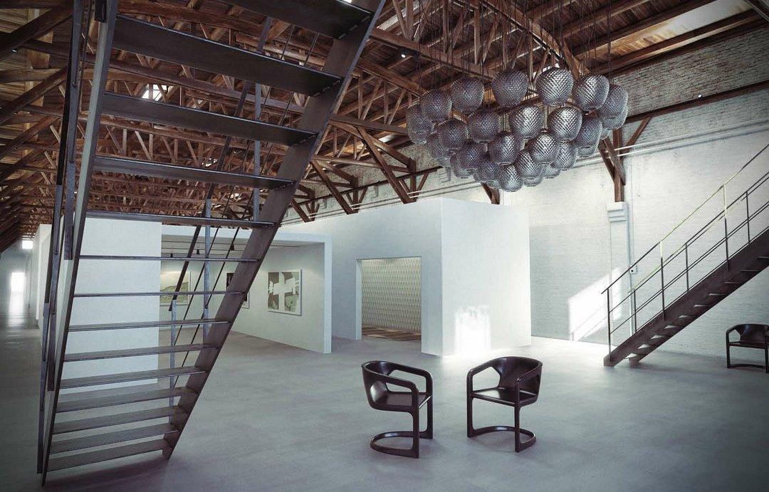 دانلود رندر نمایشگاه گالری
