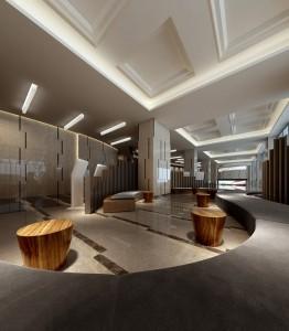 دانلود رندر سالن فرودگاه راه آهن مترو مرکز خرید گالری شوروم نمایشگاه نورپردازی مدل آماده رندر | A6Bin0107