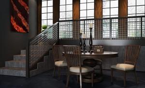 دانلود رندر اتاق نشیمن میز صندلی چوبی شمع جاشمعی مدل آماده رندر | A6Cinsa0105