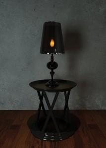دانلود رندر اتاق خواب میز عسلی آباژور کلاسیک مدل آماده رندر | A6Cinsa0107