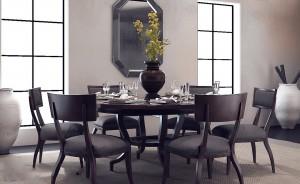 دانلود رندر رستوران کافی شاپ میز چوبی گلدان سرویس غذاخوری آیینه مدل آماده رندر | A6Cinsa0307