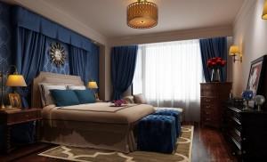 دانلود رندر اتاق خواب کلاسیک تخت خواب آباژور لوستر دراور گل پرده کف چوب مدل آماده رندر | A6Cinsa0403