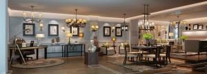 دانلود رندر خانه کامل کلاسیک کف پارکت اتاق مطالعه اتاق نشیمن میز غذاخوری لوستر کلاسیک مجسمه فرش قالیچه آباژور تابلو مدل آماده رندر | A6Cinsa0407