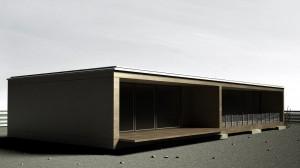 صحنه ساختمان ویلا فانتزی کویر مدل آماده رندر | ZA6AE0105