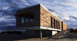 صحنه فانتزی ساختمان چوب کویر شن ماسه هوای ابری مدل آماده رندر | ZA6AE0202