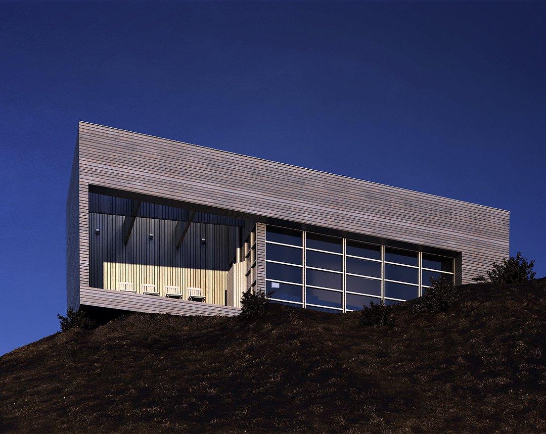 رندر ساختمان بالا تپه خاکی