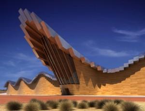 صحنه فانتزی ساختمان کویر نما چوب فلز شن خاک رس مدل آماده رندر | ZA6AE0302