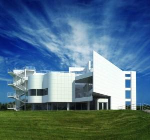 صحنه ساختمان شرکت نما کامپوزیت محوطه چمن مدل آماده رندر | ZA6AE0305