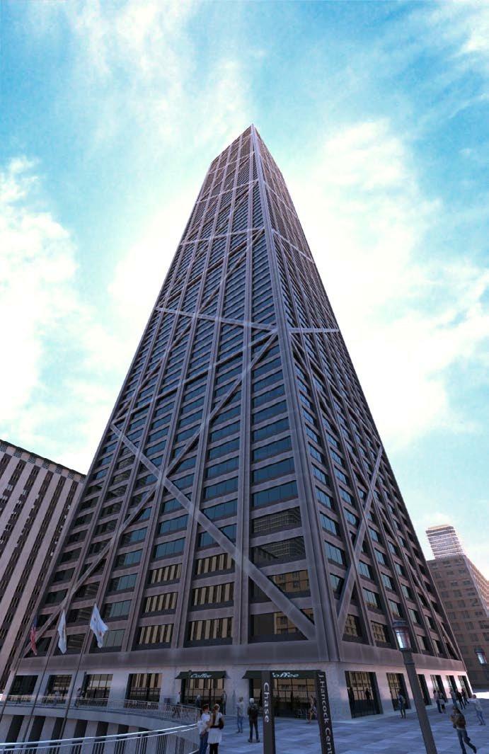 رندر برج آسمان خراش تجاری بانک