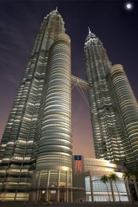 صحنه برج دوقلو مالزی مدل آماده رندر | ZA6AE0607