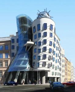 صحنه ساختمان فانتزی شهری مجعوج نما شیشه سیمان مدل آماده رندر | ZA6AE0608